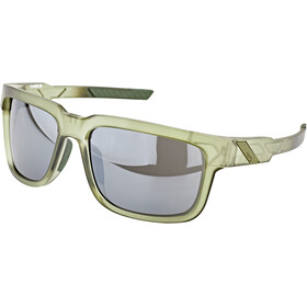 100% Type S Okulary, matte translucent olive slate/black mirror